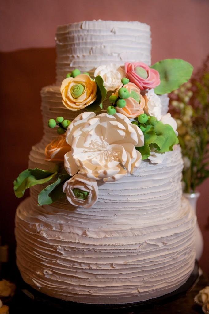 floral cake wedding