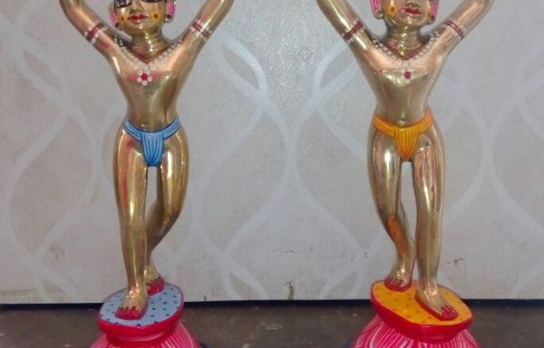 Gaur Nitai Metal Deities 6″ Inches