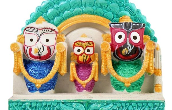 Jagannath Baladev Subhadra Marble Dust Deity / Murti – Surya Prabha