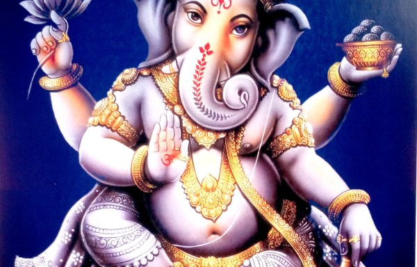 LORD GANESH FINE ART PAPER PRINT POSTER AND STICKER