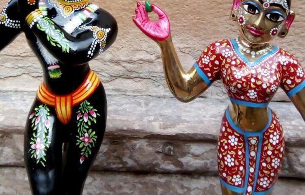 Lord Radha Krishna Metal Deity / Murty / Statue / Vigraha Black Colour 6 Inches ( Krishna Black colour )