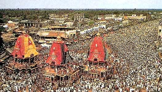 Rathayatra Chariot Festival in Jagannath Puri, Orissa India