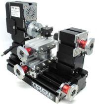 Mesin Bubut Mini Lathe Machine 12.000RPM Black