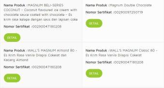 Apakah es krim magnum halal