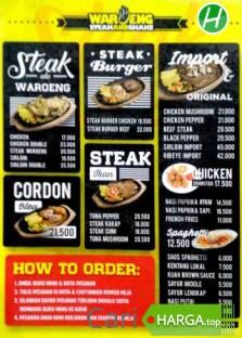 Harga Menu Waroeng Steak