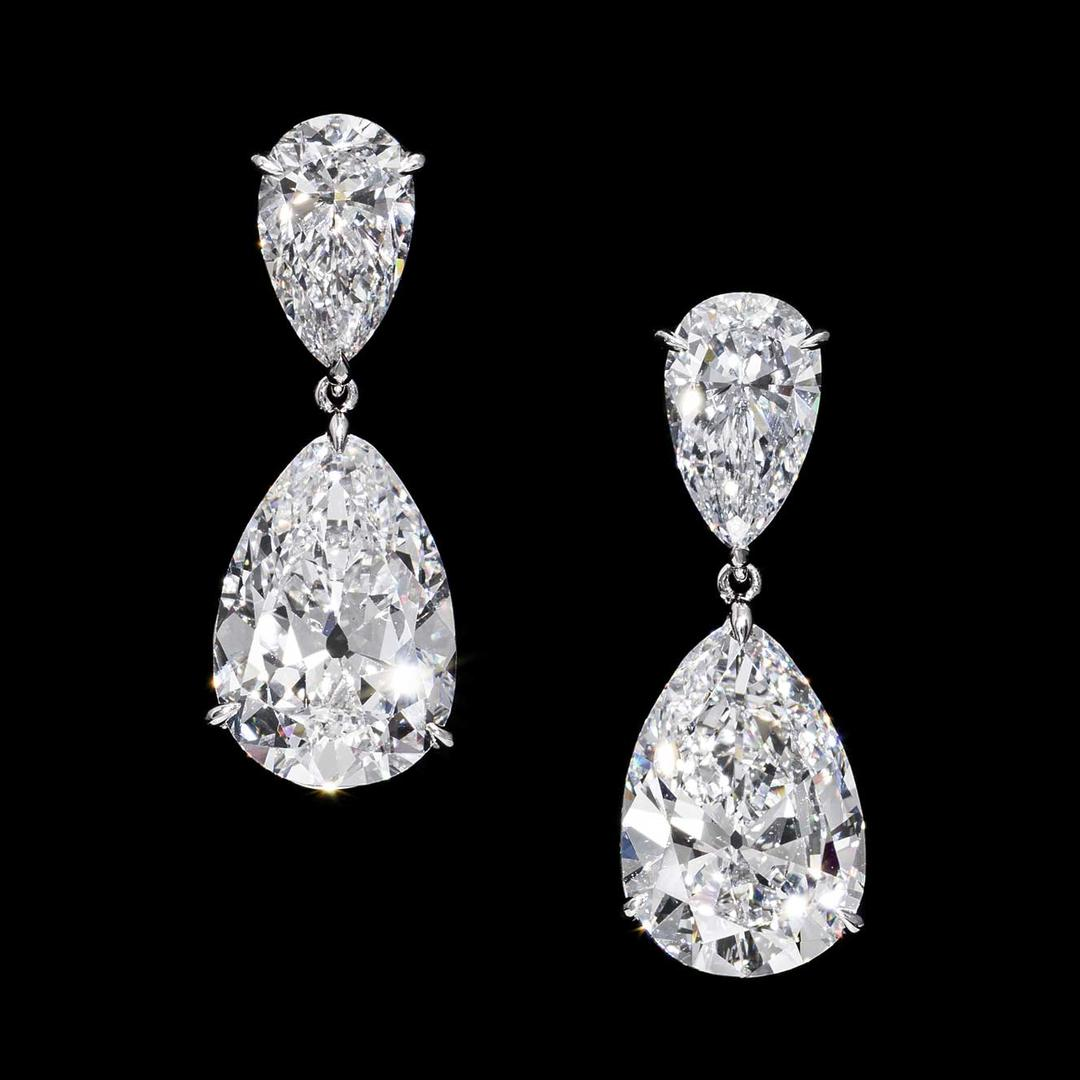 pear cut diamond earrings