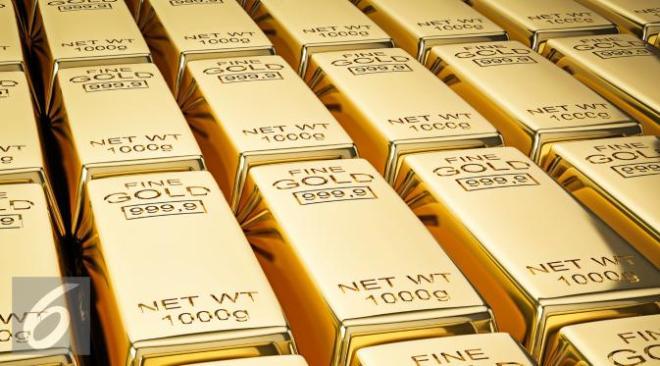 Harga emas kembali dekati level terendah dalam 6 tahun