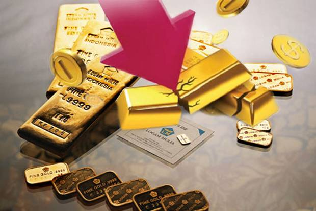 harga emas antam jeblok
