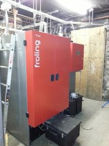 the assembled boiler