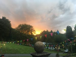 Sunset at the Hargate Festival