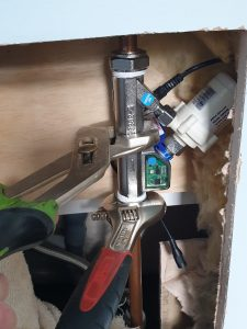 fitting the shower booster