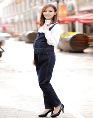 Baju kodok jeans wanita hamil