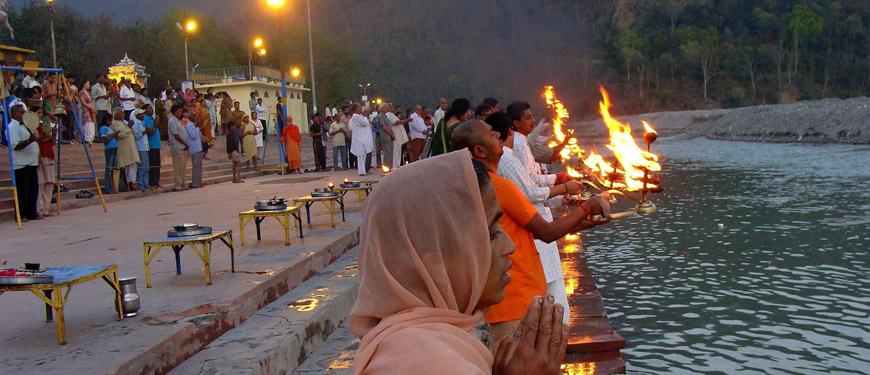 Image result for rishikesh triveni ghat ganga arati