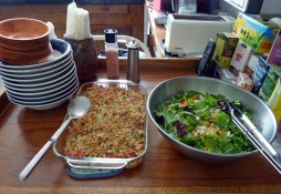 Italian vegetable gratin and summer green salad