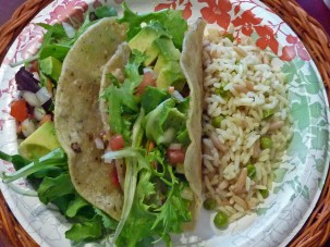 Vegan Tacos & Rice Pilaf