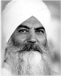 "Today: ""I am nonviolent, but if I see that the weak is being molested by the unrighteous, I will be first to put myself between the two."" – Yogi Bhajan"