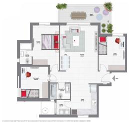 דירת 4 חדרים קומות 3-4