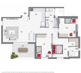 דירת 4 חדרים קומות 3-5