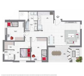 דירת 4 חדרים קומה 2