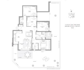 דירת גן 5 חדרים דגם A GAN - סביוני חריש