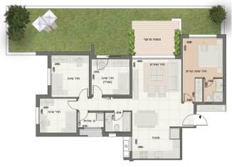 דירת גן 5 חדרים במדורגים דגם MA