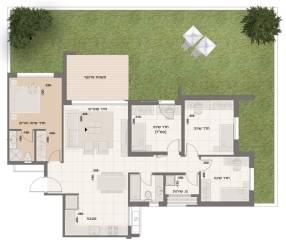 דירת גן 5 חדרים דגם A