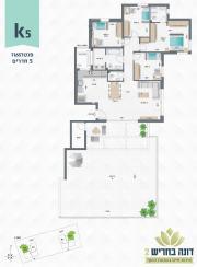 דונה בחריש 2 | פנטהאוז 5 חדרים דגם K5