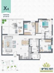 דונה בחריש 2 | פנטהאוז 4 חדרים דגם X4
