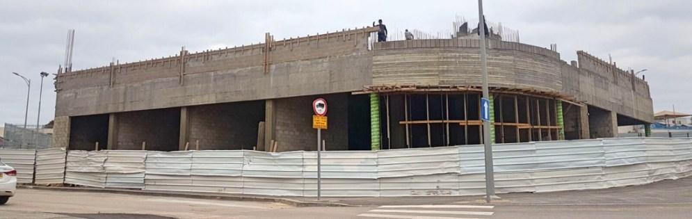 התקדמות הבנייה במרכז 408, ינואר 2018