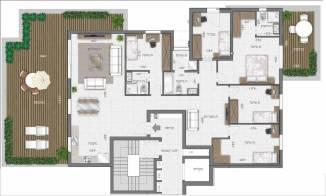 דירת פנטהאוז 6 חדרים