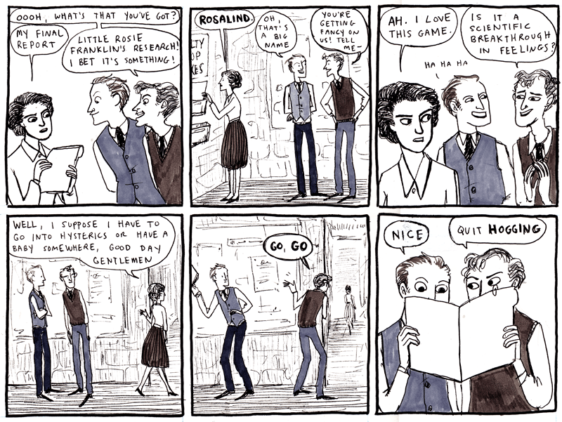 Hark! A vagrant's comic on Rosalind Franklin and, presumably, Watson & Crick