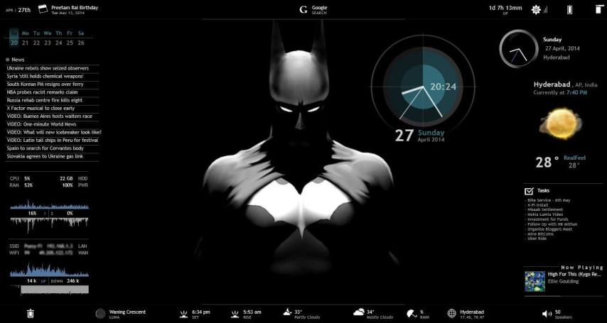 Rainmeter Skins and Theme