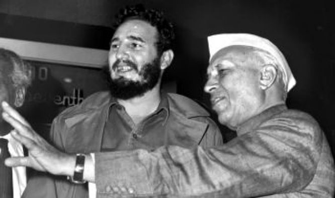 Prime Minister Jawaharlal Nehru and castro