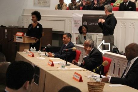 rangel on phone during debate