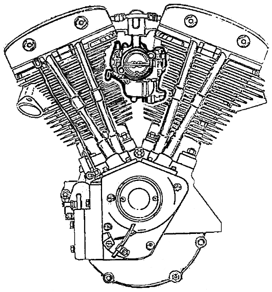 Harley Davidson Shovelhead Motor Drawing