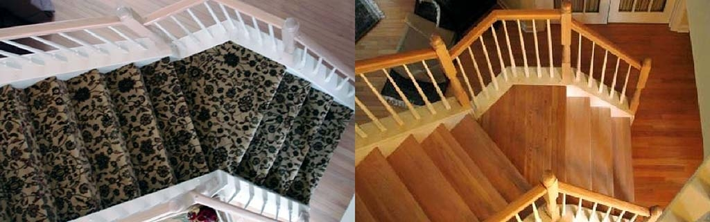 Staircase Refacing Harman Hardwood Flooring Co   Carpet Treads For Hardwood Stairs   Walmart Com   Anti Slip   Staircase Makeover   Walmart   Stair Runners