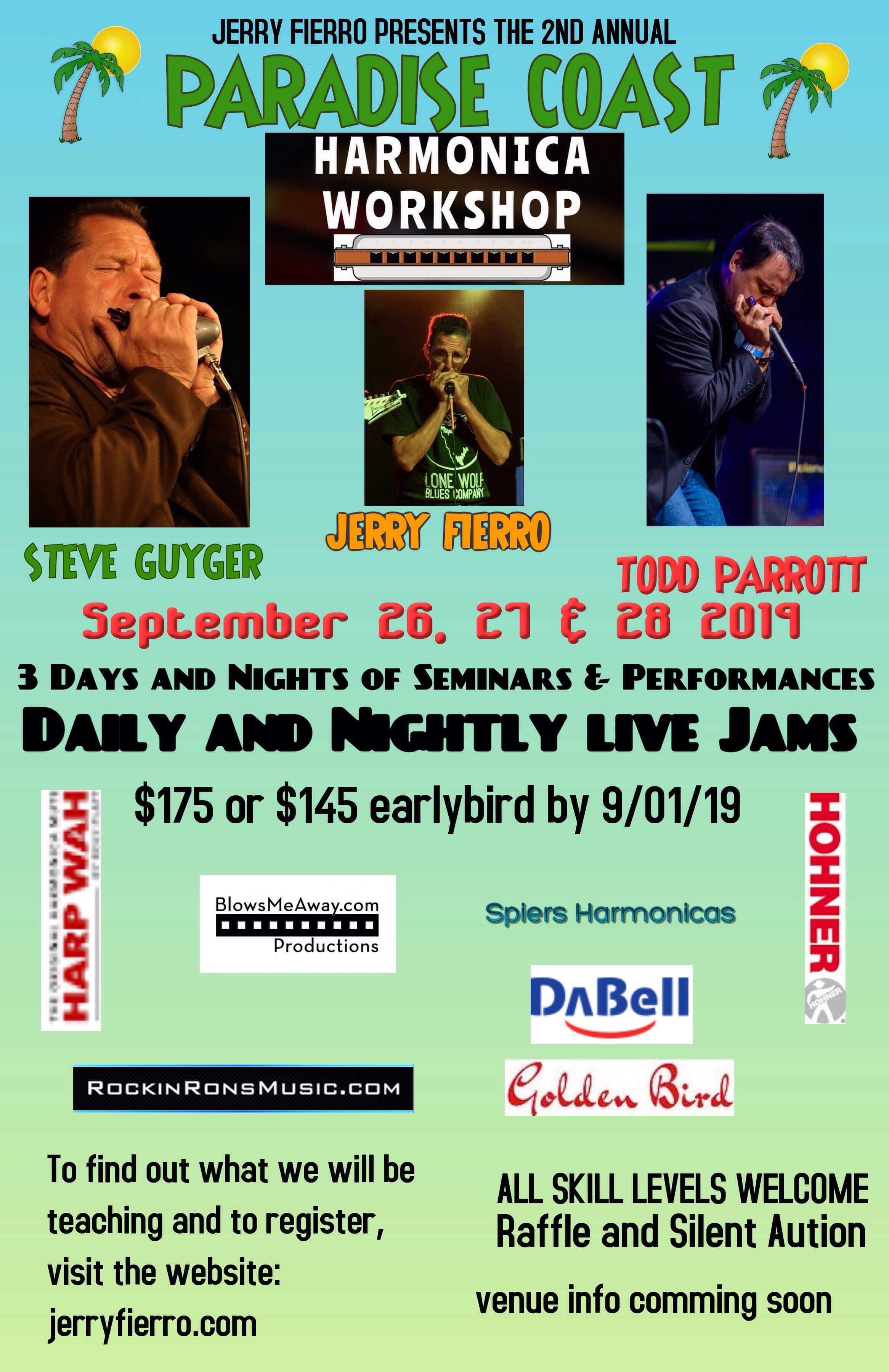 Paradise Coast Harmonica Workshop – Jerry Fierro