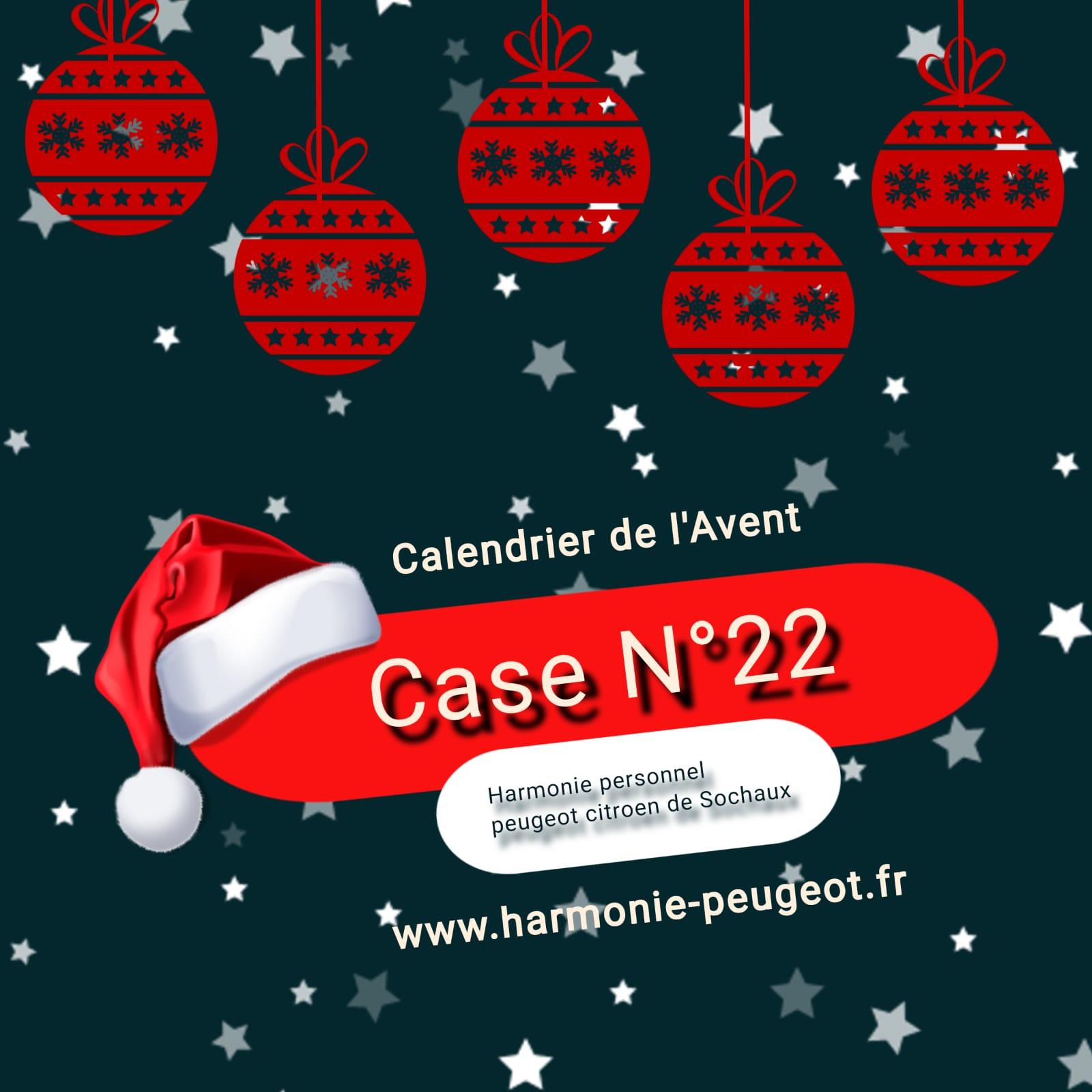 Case N°22 – Calendrier de l'Avent 2020
