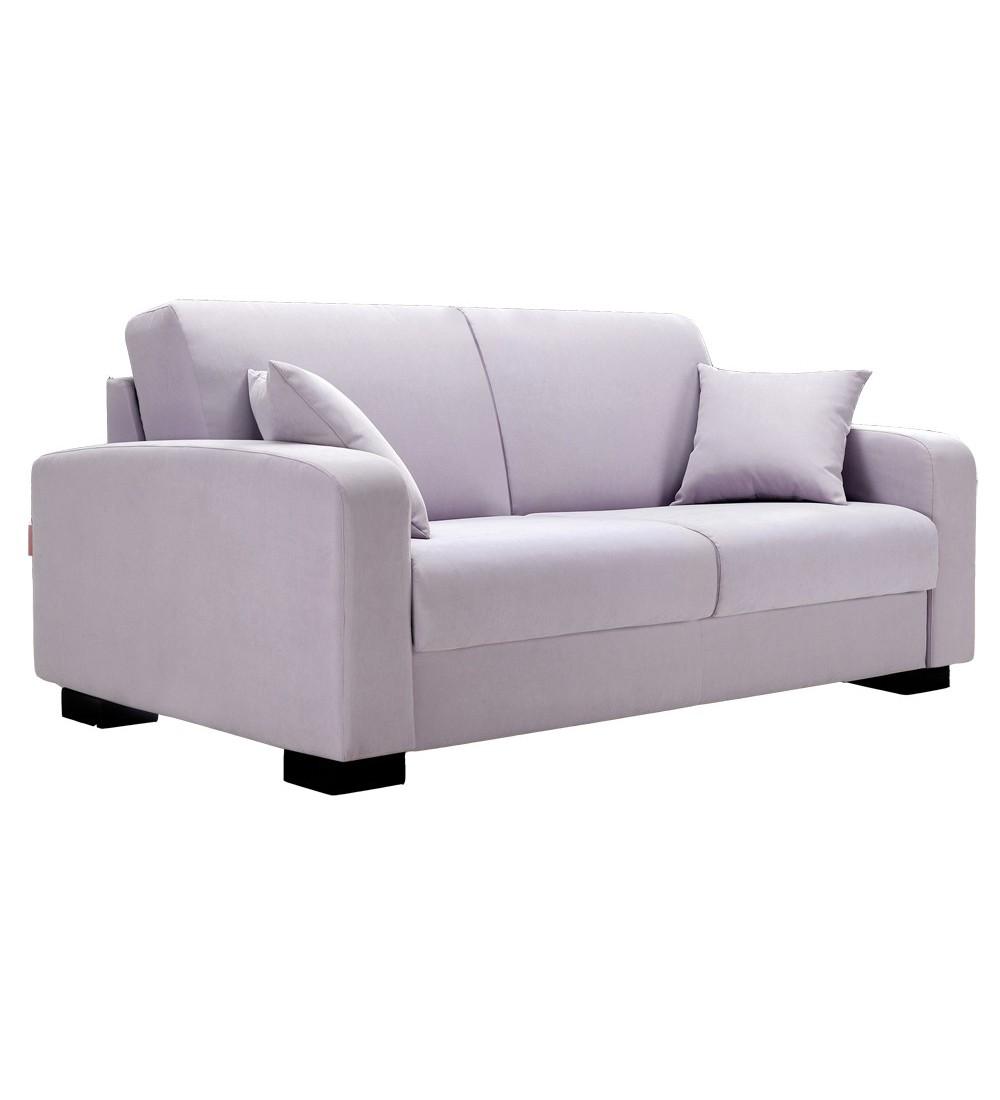 canape lit a ouverture assistee en tissu ou cuir leonardo tous couchages