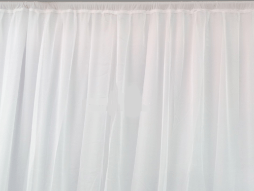 3x4m white lycra pleated curtain