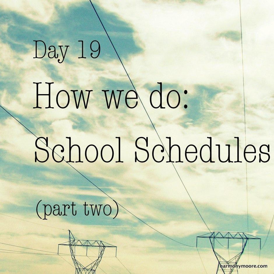 work schedules online