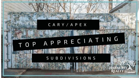 top appreciating subdivisions cary apex nc