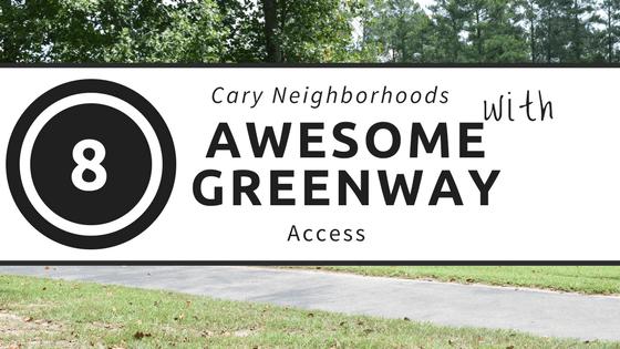 Cary, NC Greenway Neighborhoods.