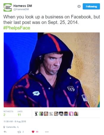 HDM Phelps Tweet - Conversation - Harness Digital Marketing