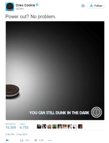Oreo Blackout Tweet - Conversation - Harness Digital Marketing
