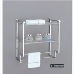 2 tier wall mount rack with towel bars
