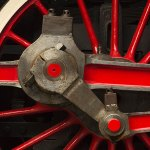 Red Train Wheel