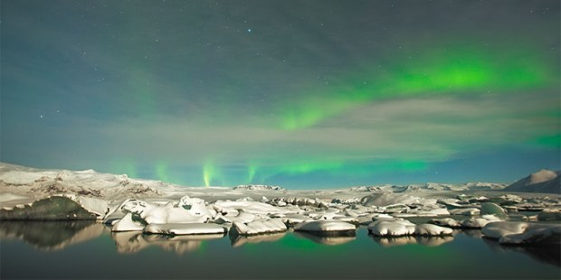 Icebergs and Northern Lights