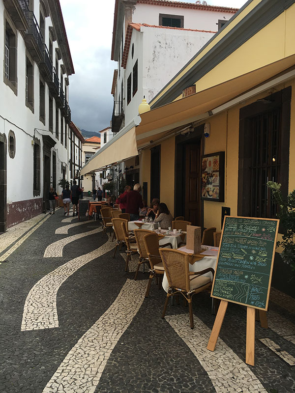 Typical Out Door Dining in Funchal