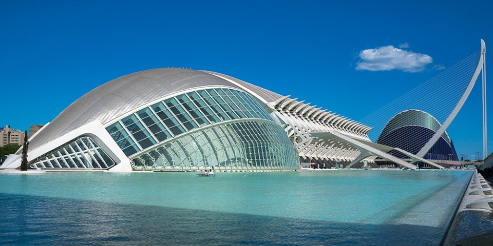 Santiago Calatrava designed City of Arts and Sciences complex